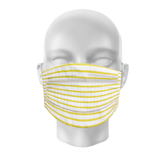 Face Mask - Pack of 2 - Yellow Stripe