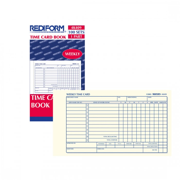 Time Card Pad