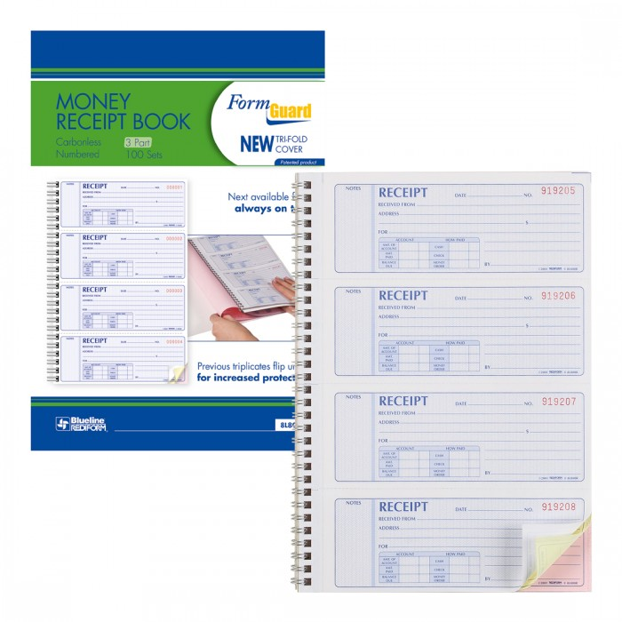 Formguard Money Receipt Book
