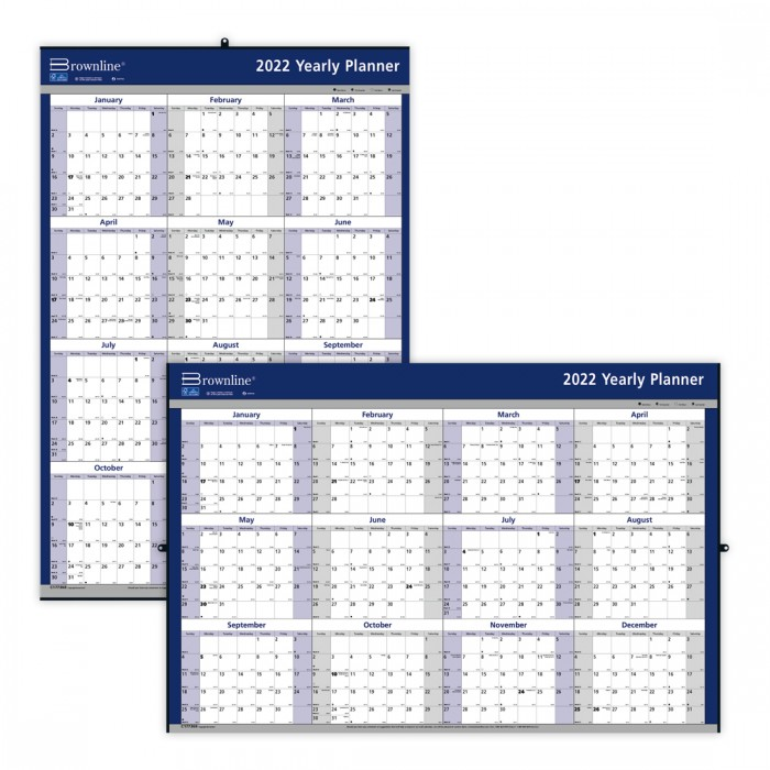 Laminated Yearly Wall Calendar 2021