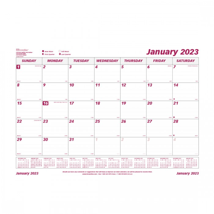 Monthly Desk Pad Refill 2021