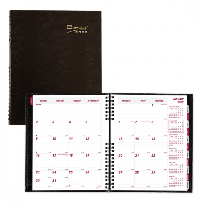 CoilPro Monthly Planner 2021 Black