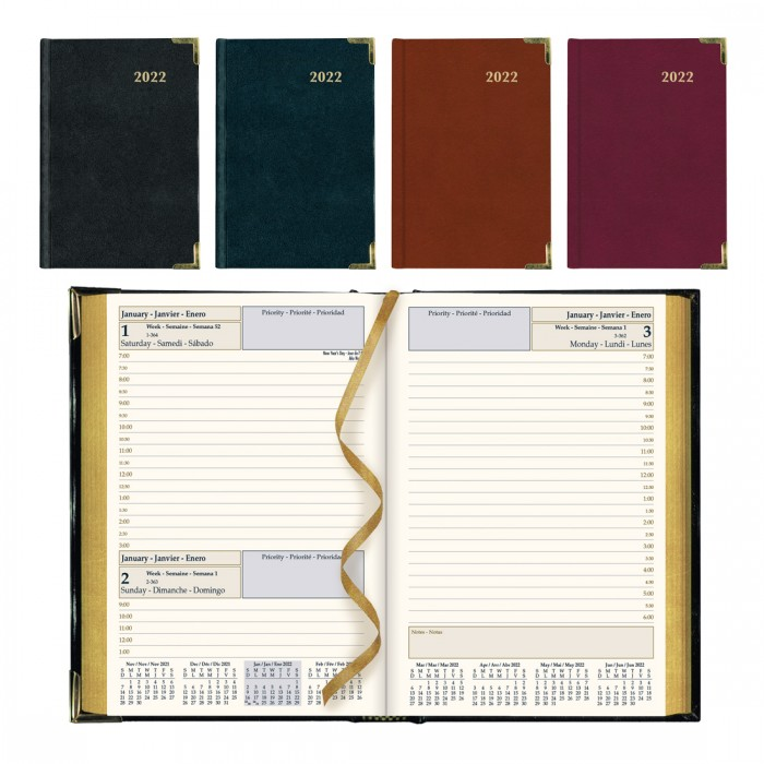 Executive Daily Planner 2022, Assorted colors