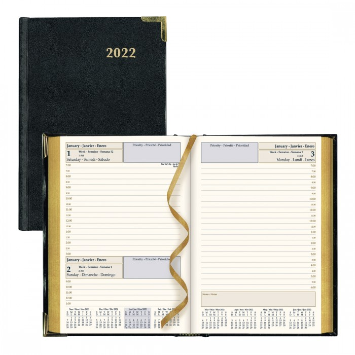 Executive Daily Planner 2022, Black