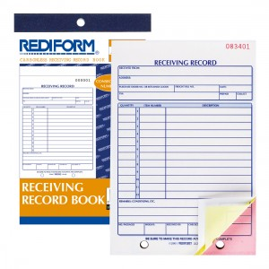 Receiving Record Book