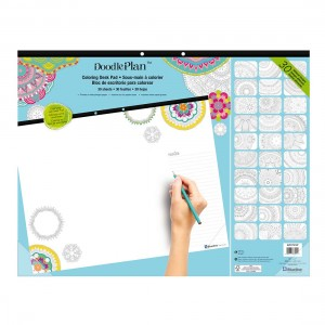 DoodlePlan™Coloring Desk Pad - Undated