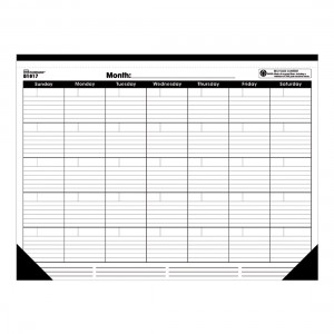 Monthly Undated Desk Pad