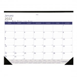 DuraGlobe Monthly Desk Pad - English 2019