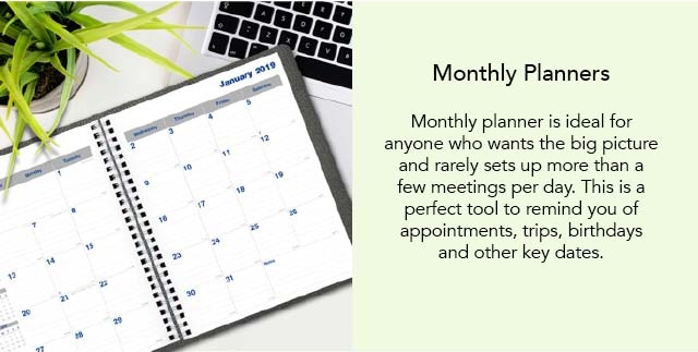 Rediform Monthly Planners