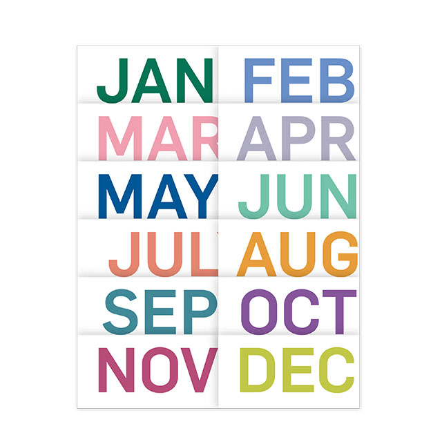 Monthly colors